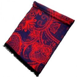 Zimní Hedvábný šátek dámský 100% SILK WWSS019