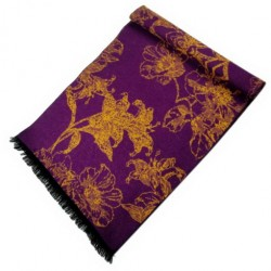 Zimní Hedvábný šátek dámský 100% SILK WWSS030