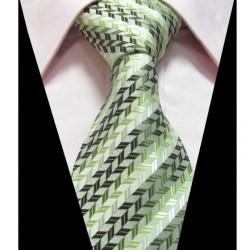 Hedvábná kravata zelená LD0335