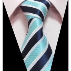 Hedvábná kravata modrá LD0398