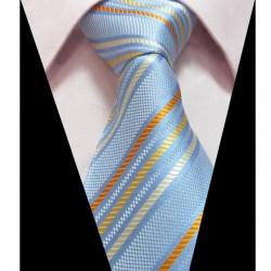Hedvábná kravata modrá LD0403