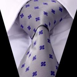Hedvábná kravata šedá LD0421