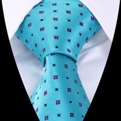 Hedvábná kravata modrá LD0422