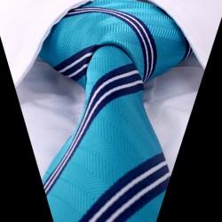 Hedvábná kravata modrá LD0423