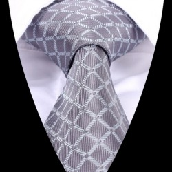 Hedvábná kravata šedá LD0462