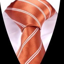 Hedvábná kravata oranžová LD0524