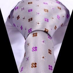 Hedvábná kravata šedá LD0532