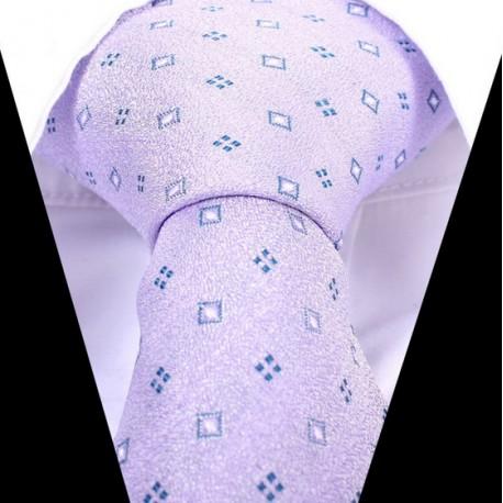 Hedvábná kravata fialová LD0533