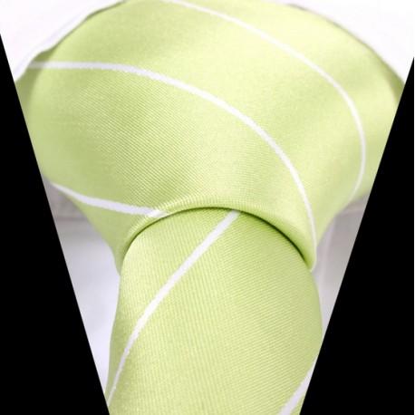 Hedvábná kravata zelená LD0538