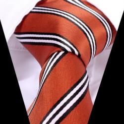 Hedvábná kravata oranžová LD0540