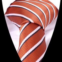 Hedvábná kravata oranžová LD0555