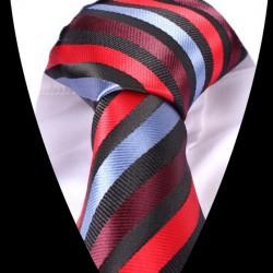 Hedvábná kravata pruhovaná LD0557