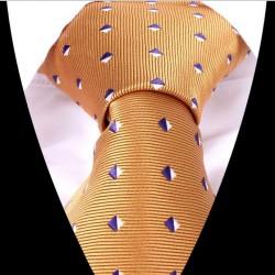 Hedvábná kravata oranžová LD0558