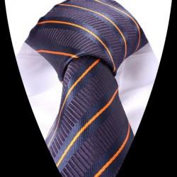 Hedvábná kravata tmavě modrá LD0559