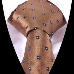 Hedvábná kravata hnědá LD0564