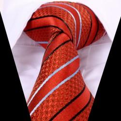 Hedvábná kravata oranžová LD0592
