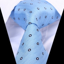Hedvábná kravata modrá LD0594
