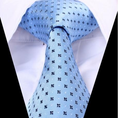 Hedvábná kravata modrá LD0596