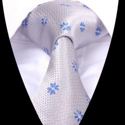 Hedvábná kravata šedá LD0613