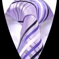 Hedvábná kravata fialová LD0614