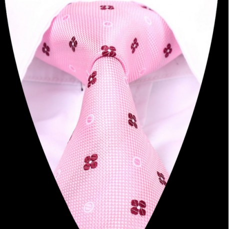 Hedvábná kravata růžová LD0615