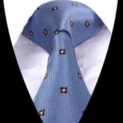 Hedvábná kravata modrá LD0616