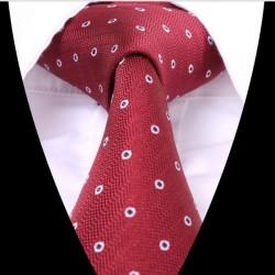 Hedvábná kravata červená LD0618