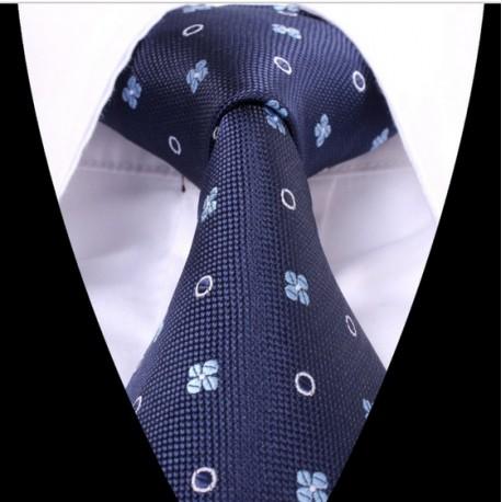 Hedvábná kravata modrá LD0620
