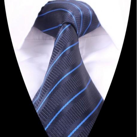 Hedvábná kravata tmavě modrá LD0626