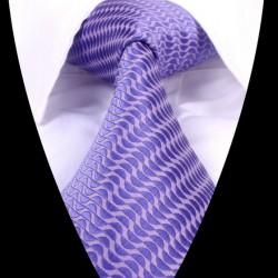 Hedvábná kravata fialová LD0628
