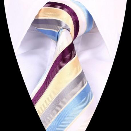 Hedvábná kravata pruhovaná LD0660