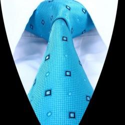 Hedvábná kravata tyrkysová LD0634