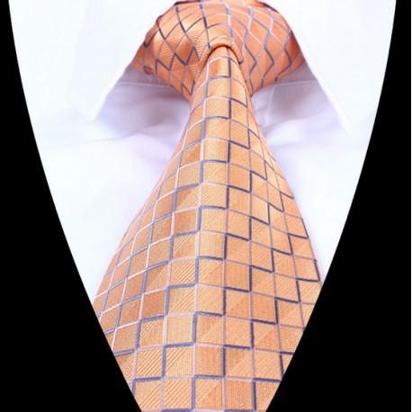 Hedvábná kravata oranžová LD0666