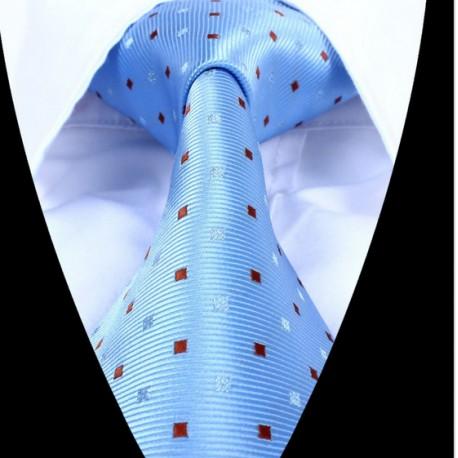 Hedvábná kravata světle modrá LD0669