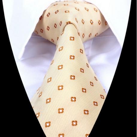 Hedvábná kravata žlutá LD0673