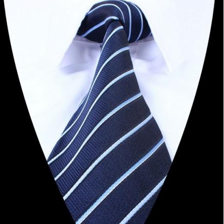 Hedvábná kravata tmavě modrá LD0676