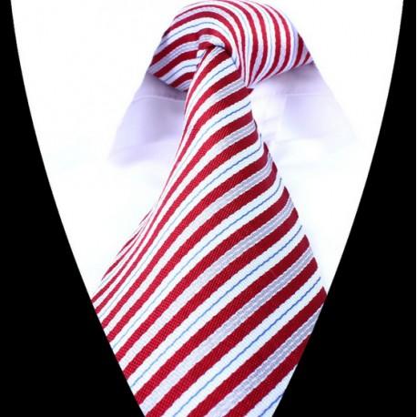Hedvábná kravata červená LD0686