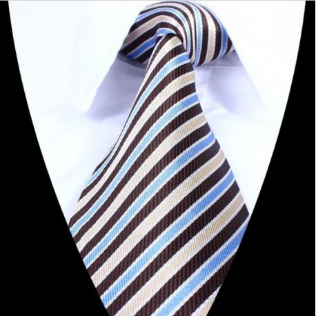 Hedvábná kravata pruhovaná LD0698