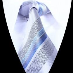 Hedvábná kravata šedá LD0716
