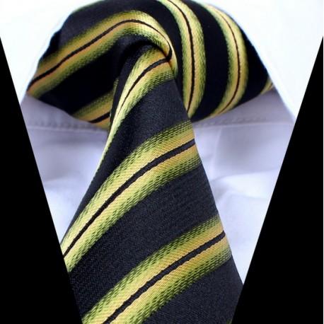 Hedvábná kravata černá LD0735
