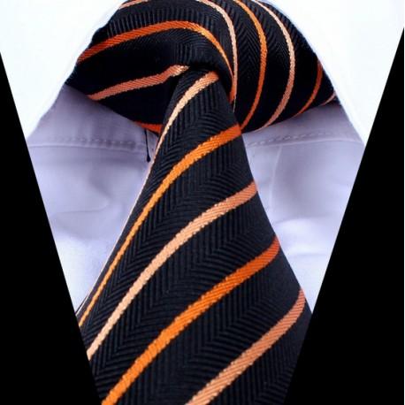 Hedvábná kravata tmavě modrá LD0749