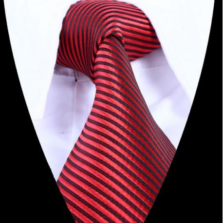 Hedvábná kravata červená LD0830