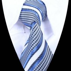 Hedvábná kravata modrá LD0881