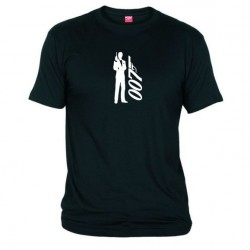 Dámské tričko 007 James Bond černé