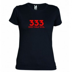 Dámské tričko 333 Only half Evil černé