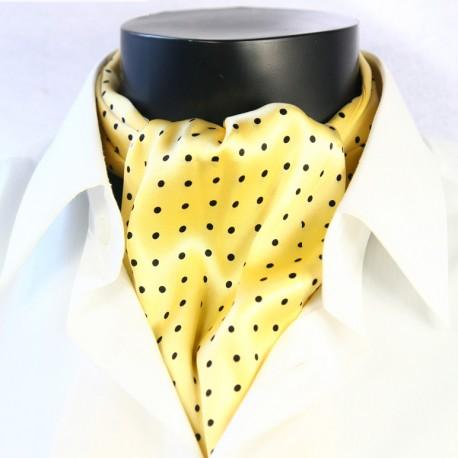 Hedvábná kravatová šála žlutá CV27