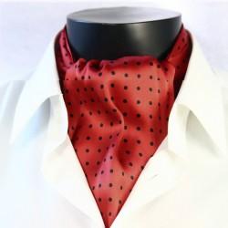 Hedvábná kravatová šála červená CV26