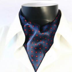 Hedvábná kravatová šála tmavě modrá CV24