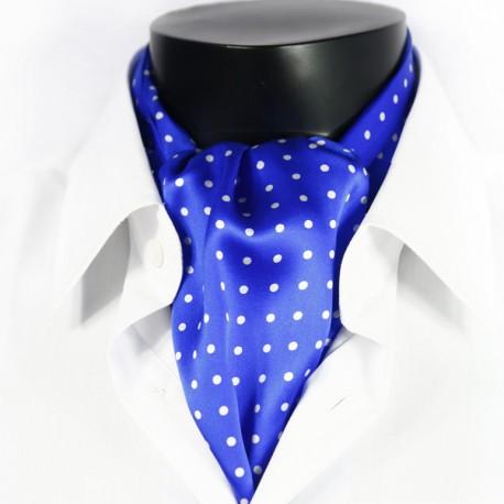 Hedvábná kravatová šála modrá CV10