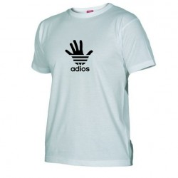 Pánské tričko Adios bílé